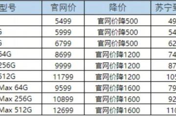 苏宁iPhone11最高直降1600元系国内初次全线降价