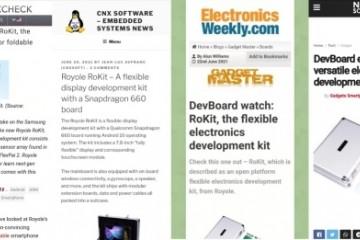 是否想制作自己的折叠屏手机?柔宇科技RoKit帮你实现