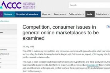 澳大利亚对亚马逊eBay等电商平台展开反垄断调查