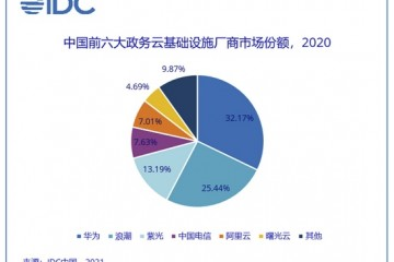 IDC中国2020年政务云公有云市场规模同比增长61.59%
